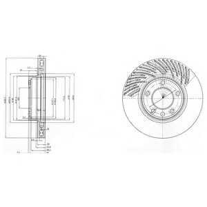 DELPHI BG9773 Гальмівний диск