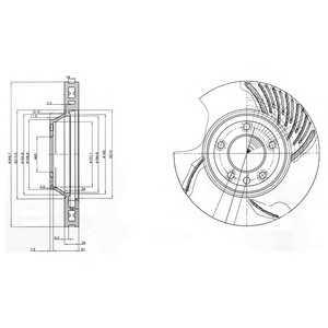 DELPHI BG9774 Гальмівний диск