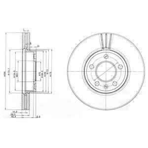 DELPHI BG9891 Гальмівний диск