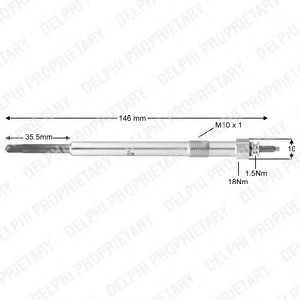 DELPHI HDS383 Свеча накаливания