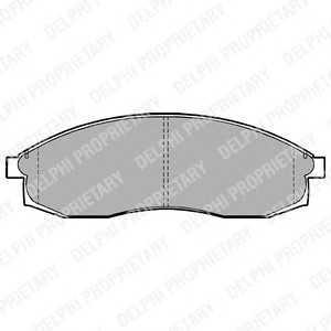 DELPHI LP1013 Тормозные колодки передние Nisan Maxima QX 3.0 10/94-