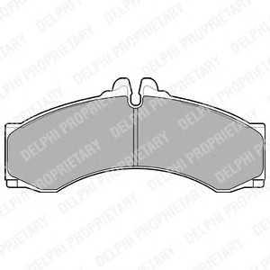 DELPHI LP1046 Тормозные колодки
