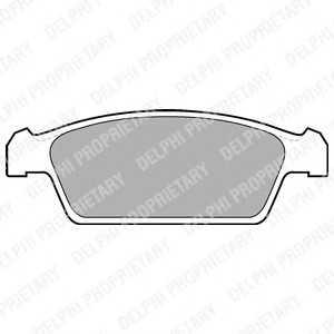 DELPHI LP1100 Комплект тормозных колодок, дисковый тормоз Дэу Тико
