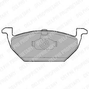 DELPHI LP1104 Гальмівні колодки, дискові