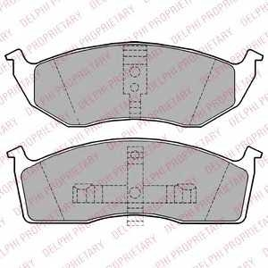 DELPHI LP1164 Комплект тормозных колодок, дисковый тормоз Крайслер Вижн
