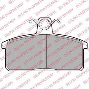 DELPHI LP1201 Комплект тормозных колодок, дисковый тормоз