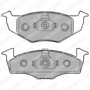 DELPHI LP1249 Гальмівні колодки, дискові