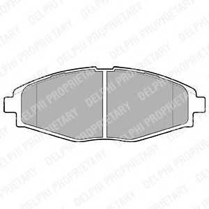 DELPHI LP1390 Комплект тормозных колодок, дисковый тормоз Дэу Матиз