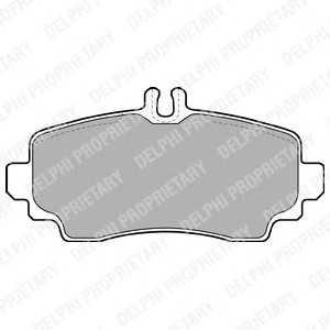 DELPHI LP1401 Тормозные колодки