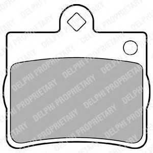 DELPHI LP1402 Гальмівні колодки, дискові