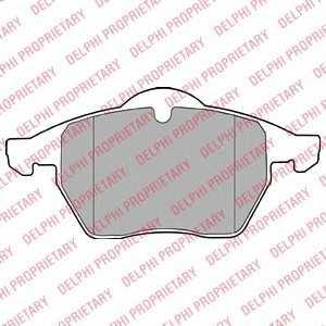 DELPHI LP1407 Гальмівні колодки, дискові