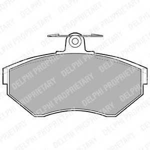 DELPHI LP1410 Гальмівні колодки, дискові