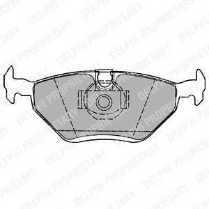 DELPHI LP1423 Гальмівні колодки, дискові