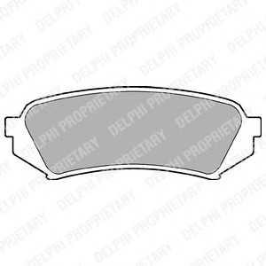 DELPHI LP1438 Гальмівні колодки, дискові