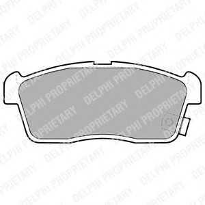 DELPHI LP1442 Комплект тормозных колодок, дисковый тормоз Дайхатсу