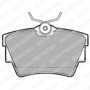 DELPHI LP1455 Колодки торм зад