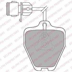 DELPHI LP1463 Колодки гальмівні дискові