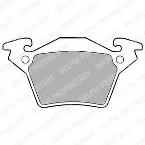 DELPHI LP1471 Гальмівні колодки, дискові