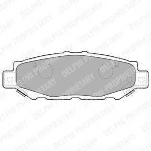 DELPHI LP1508 Комплект тормозных колодок, дисковый тормоз