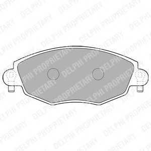 DELPHI LP1533 Гальмівні колодки, дискові