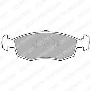 DELPHI LP1549 Комплект тормозных колодок, дисковый тормоз Фиат Страда