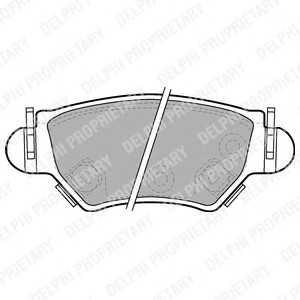 DELPHI LP1553 Гальмівні колодки, дискові