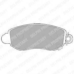 DELPHI LP1582 Гальмівні колодки, дискові