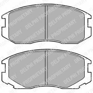 DELPHI LP1594 Комплект тормозных колодок, дисковый тормоз Дайхатсу Териос