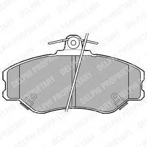 DELPHI LP1599 Комплект тормозных колодок, дисковый тормоз Хюндай Н100