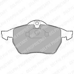 DELPHI LP1600 Гальмівні колодки, дискові