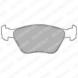 DELPHI LP1602 Комплект тормозных колодок, дисковый тормоз