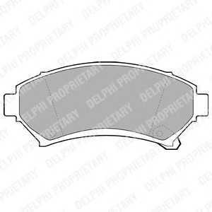 DELPHI LP1609 Тормозные колодки