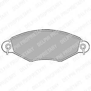 DELPHI LP1617 Гальмівні колодки, дискові