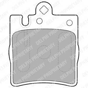 DELPHI LP1618 Гальмівні колодки, дискові
