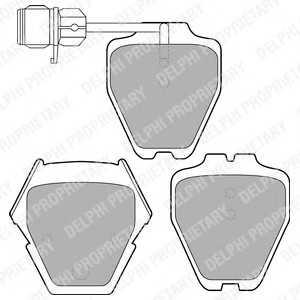 DELPHI LP1633 Комплект тормозных колодок, дисковый тормоз