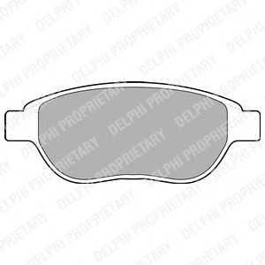 DELPHI LP1653 Гальмівні колодки, дискові