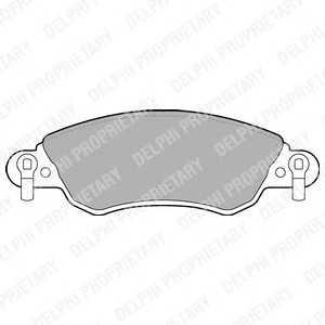 DELPHI LP1656 Тормозные колодки