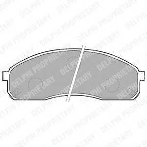 DELPHI LP1671 Комплект тормозных колодок, дисковый тормоз Киа Преджио