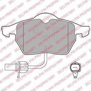 DELPHI LP1672 Гальмівні колодки, дискові
