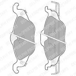 DELPHI LP1673 Тормозные колодки