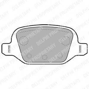 DELPHI LP1678 Гальмівні колодки, дискові