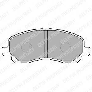 DELPHI LP1684 Гальмівні колодки, дискові