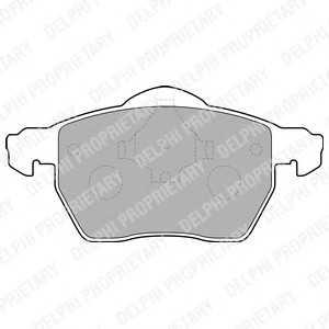 DELPHI LP1687 Гальмівні колодки, дискові