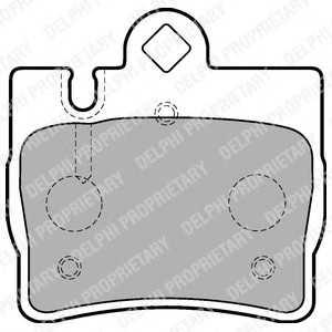 DELPHI LP1697 Гальмівні колодки, дискові
