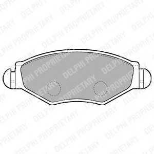 DELPHI LP1699 Гальмівні колодки, дискові