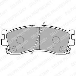 DELPHI LP1702 Гальмiвнi колодки дисковi