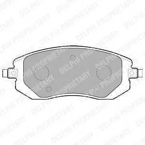 DELPHI LP1718 Гальмівні колодки, дискові