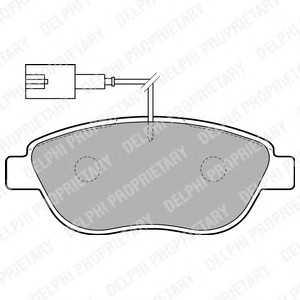 DELPHI LP1721 Гальмівні колодки, дискові