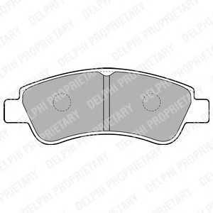 DELPHI LP1727 Гальмівні колодки, дискові