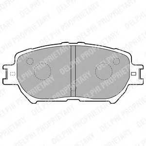 DELPHI LP1738 Гальмівні колодки, дискові